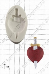 'Heart and Dagger' Silicone Mould