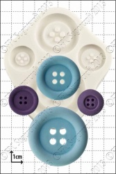 'Large Buttons' Silicone Mould