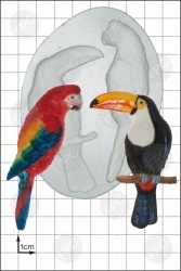 'Parrot & Toucan' Silicone Mould