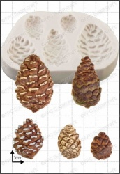 'Pine Cones' Silicone Mould