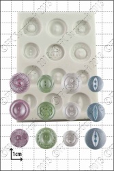 'Plain Buttons' Silicone Mould