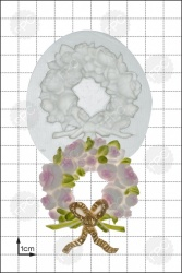 'Rose Wreath' Silicone Mould