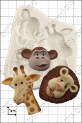 'Safari Animals' Silicone Mould