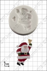 'Santa Claus with Bell' Silicone Mould