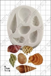 'Sea Shells' Silicone Mould