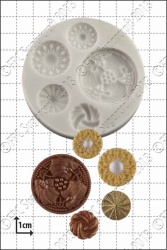 'Vintage Buttons' Silicone Mould