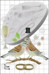 'Wedding Lovebirds' Silicone Mould