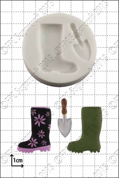 'Wellington Boot & Trowel' Silicone Mould