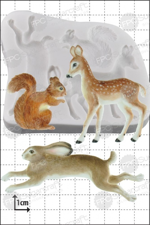 'Woodland Animals' Silicone Mould