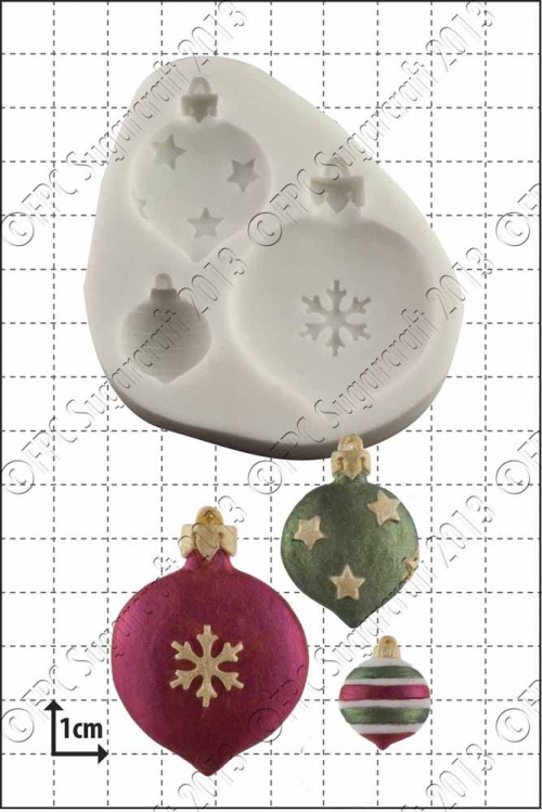'Xmas Baubles' Silicone Mould
