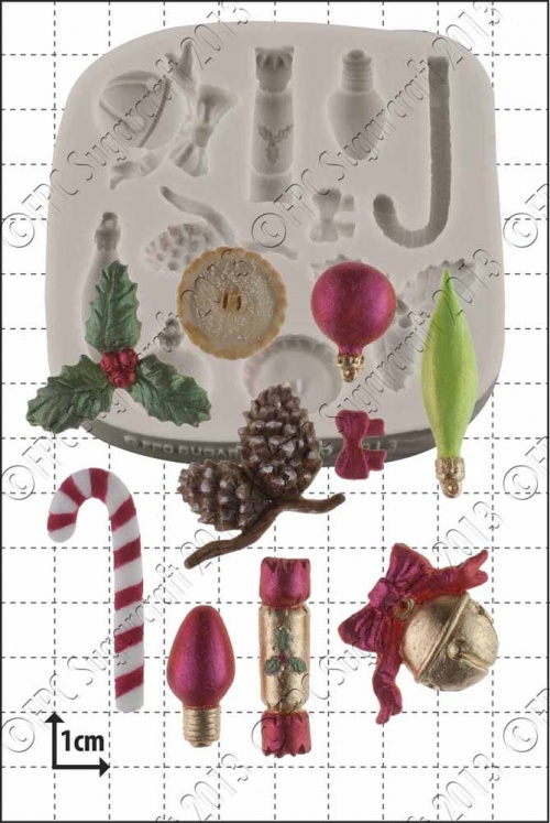 'Xmas Mini Decorations' Silicone Mould