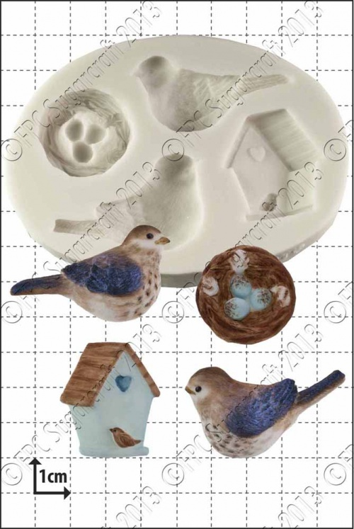 'Baby Birds' Silicone Mould