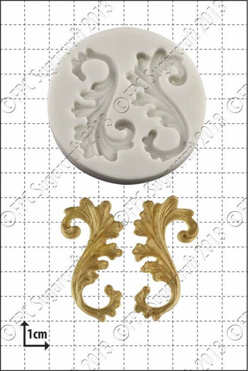 'Curlicues' Silicone Mould
