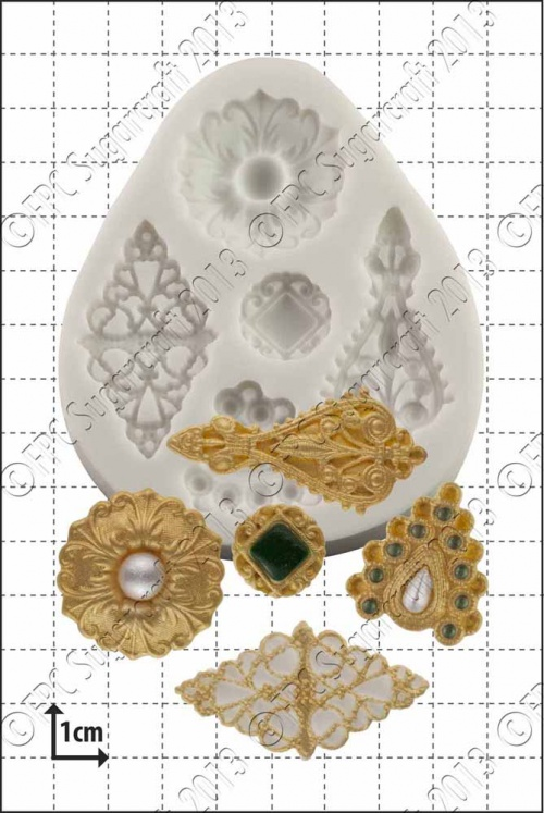 'Filigree Brooches' Silicone Mould