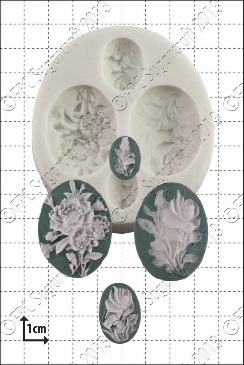 'Flower Cameos' Silicone Mould