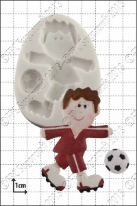 'Funky Footballer' Silicone Mould