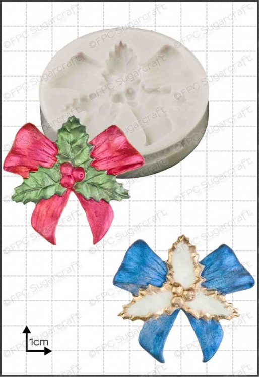 'Holly Bow' Silicone Mould