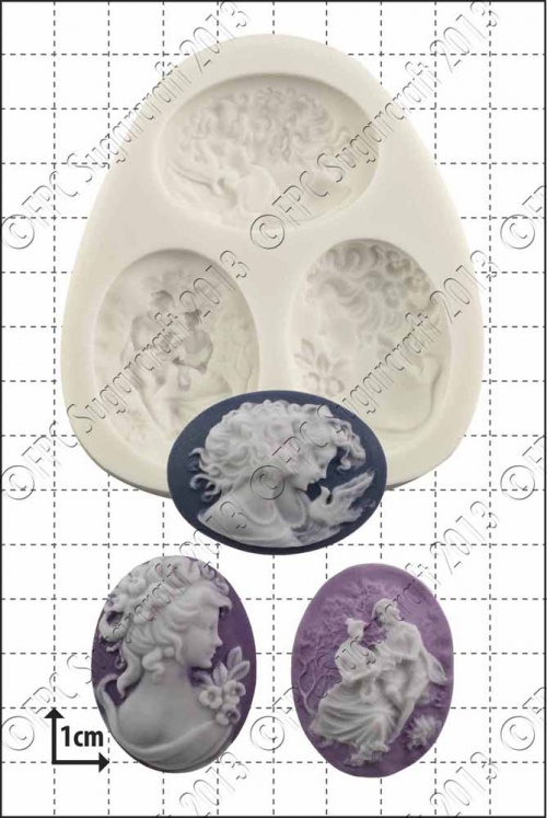 'Large Cameos' Silicone Mould