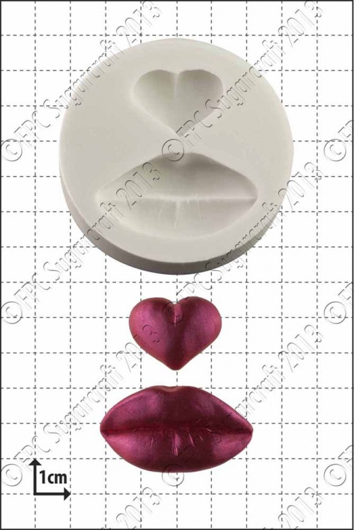 'Lips & Heart' Silicone Mould