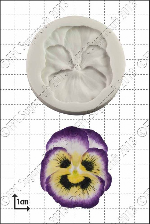 'Pansy' Silicone Mould