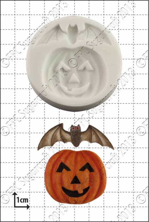 'Pumpkin and Bat' Silicone Mould