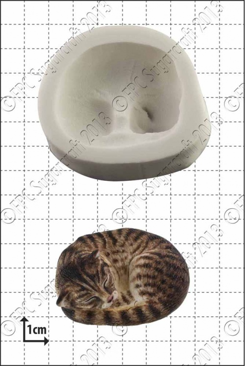 'Sleeping Cat' Silicone Mould
