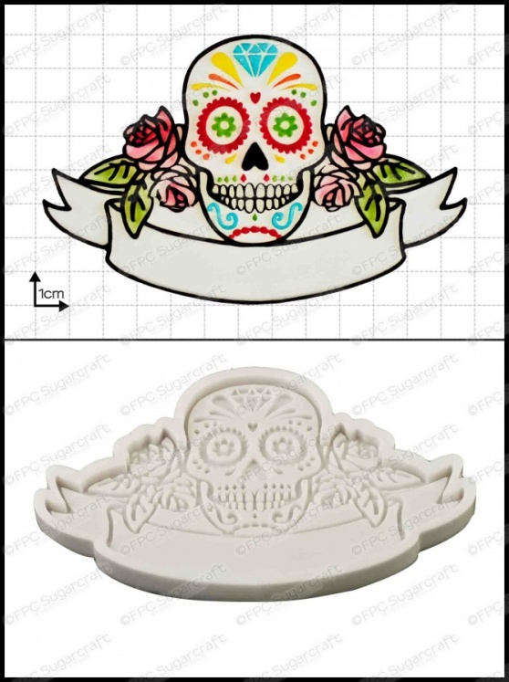 'Sugar Skull' Silicone Mould
