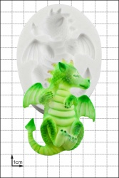 'Baby Dragon Asleep' Silicone Mould