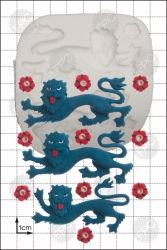 'England Lions Passant' Silicone Mould