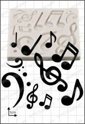 'Musical Notes' Silicone Mould