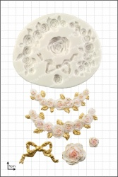 'Rose Swags' Silicone Mould