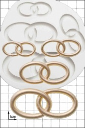 'Wedding Rings' Silicone Mould